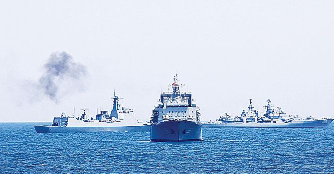 Çin savaş gemileri Akdeniz yolunda...