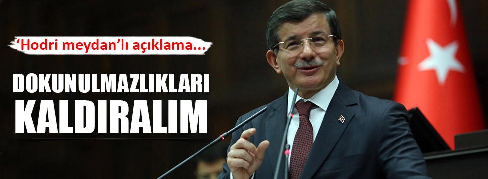 """Davutoğlu: """"Dokunulmazlıkları Kaldıralım"""""""