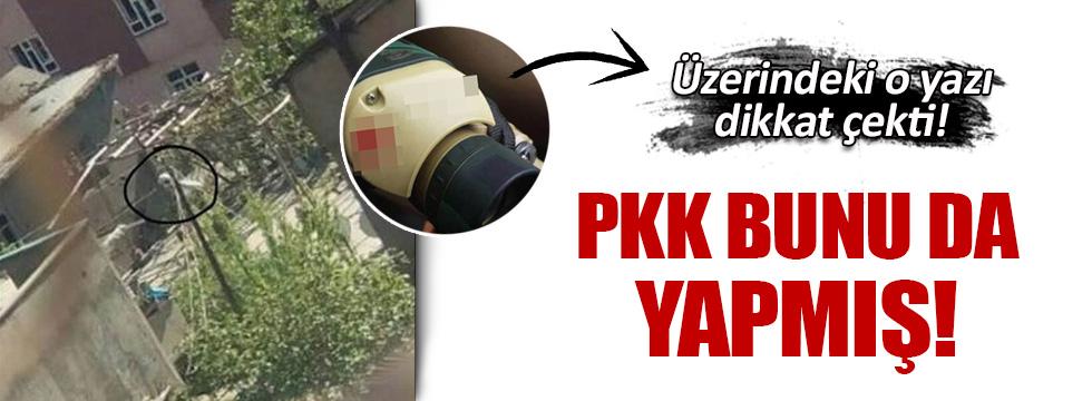 PKK'lı teröristler sokaklara kamera yerleştirmişler