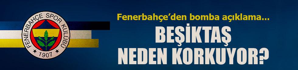 Fenerbahçe'den tartışmalı Beşiktaş açıklaması