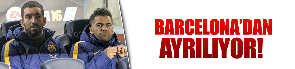 Dani Alves Barcelona'dan ayrılıyor
