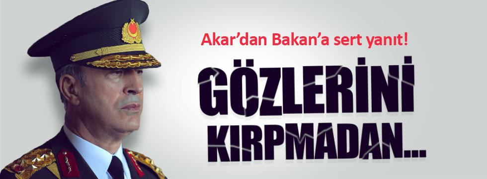 Genelkurmay Başkanı AKP'li Bakan'a böyle tepki gösterdi