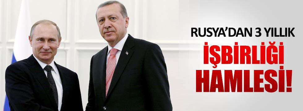 Rusya'dan Türkiye ile 3 yıllık işbirliği hamlesi