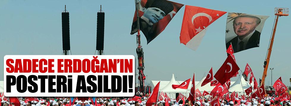 Bahçeli ve Kılıçdaroğlu'nun posteri asılmadı