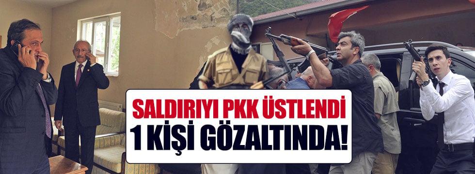 Kılıçdaroğlu'nun konvoyuna yapılan saldırıda 1 PKK'lı gözaltında