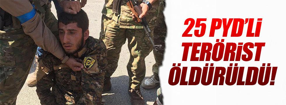 Cerablus'ta 25 PYD'li terörist öldürüldü!