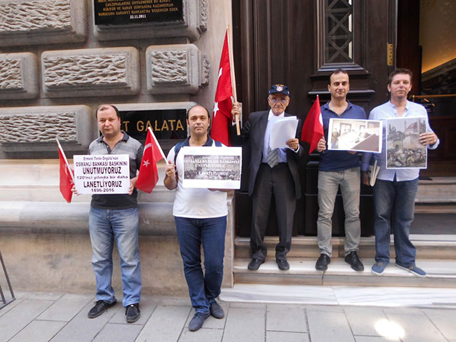 Ermeni çetelerinin baskını protesto edildi