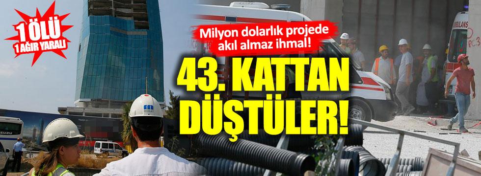 İzmir'de 43 katlı binada dehşet