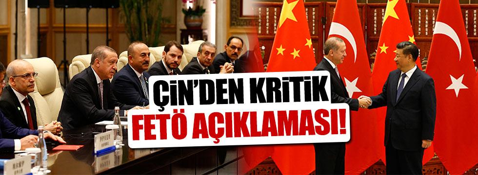Çin'den FETÖ ile mücadeleye destek