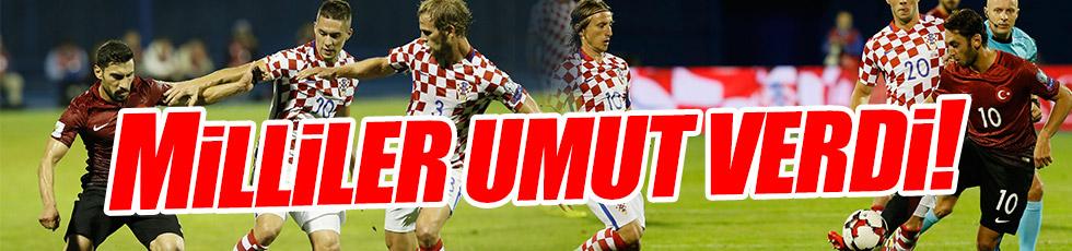 A Milli Takım Hırvatistan maçından 1 puanla ayrıldı