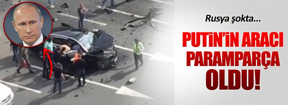 Putin'in makam aracı kaza yaptı