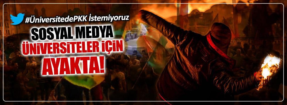 Üniversiteli PKK'lılara sosyal medyadan tepki yağdı