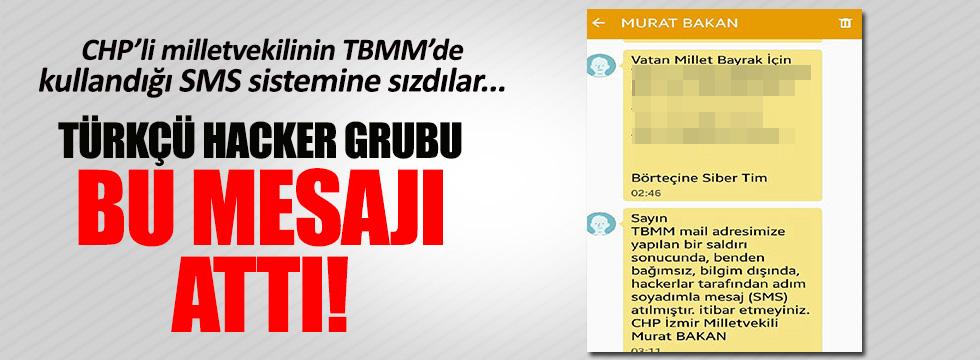 Türkçü hacker grubu CHP'li vekilden bu SMS'i gönderdi