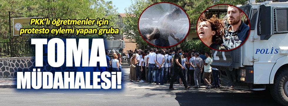 Eğitim-Sen, PKK'lı öğretmenler için gösteri yaptı