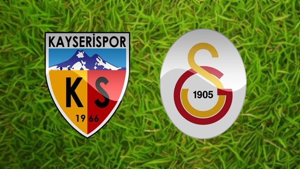 Kayserispor Galatasaray maçının 11'i belli oldu