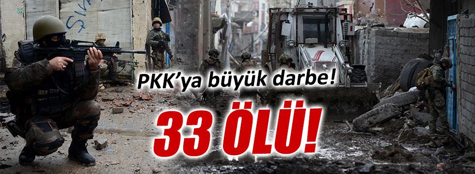 33 PKK'lı öldürüldü