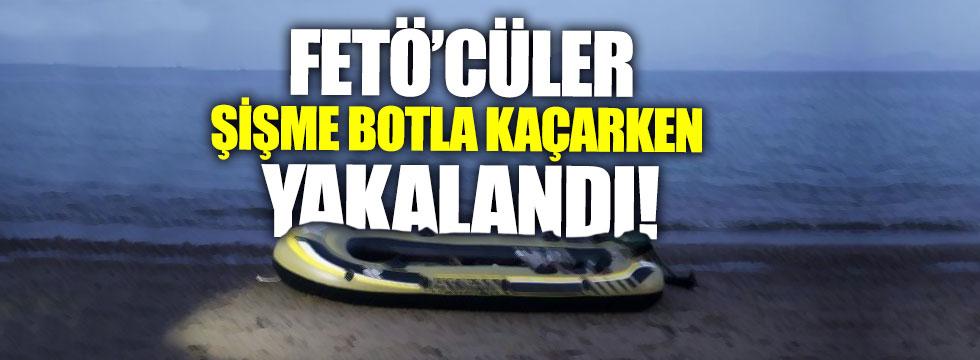 FETÖ'cüler şişme botla Yunanistan'a kaçarken yakalandı