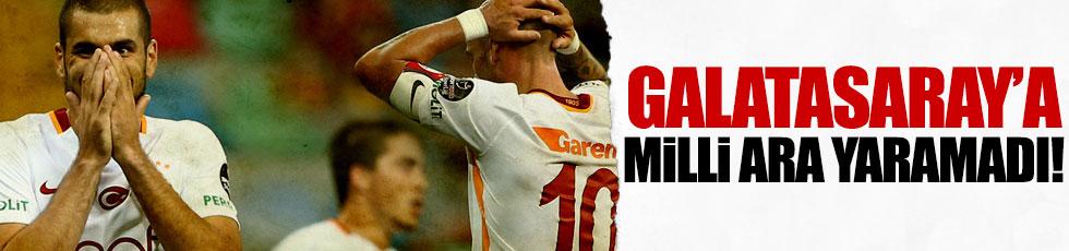 Galatasaray'a milli ara yaramadı