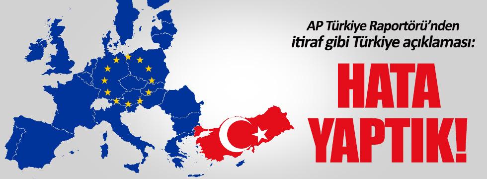 AP Türkiye Raportörü'nden itiraf gibi Türkiye açıklaması