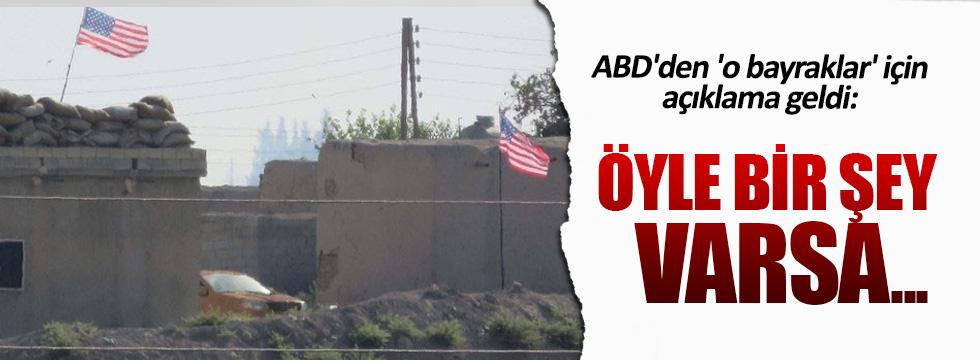 PYD'nin astığı bayraklar için ABD'den açıklama geldi