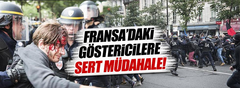 Fransa'da göstericilere çok sert müdahale