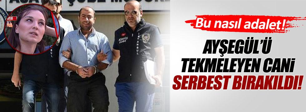Ayşegül Terzi'ye tekme atan Abdullah Çakıroğlu serbest bırakıldı