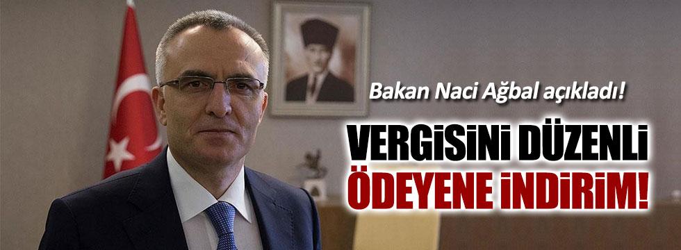 Maliye Bakanı Ağbal: Düzenli vergi ödeyene indirim