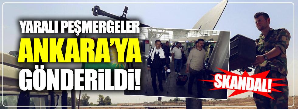 Yaralı peşmergeler Ankara'ya gönderildi