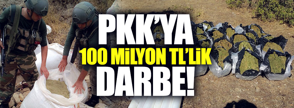 PKK'ya 100 milyon TL'lik darbe