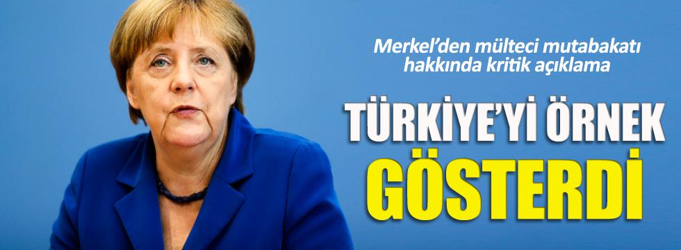 Merkel: AB-Türkiye mutabakatı örnek teşkil etmeli