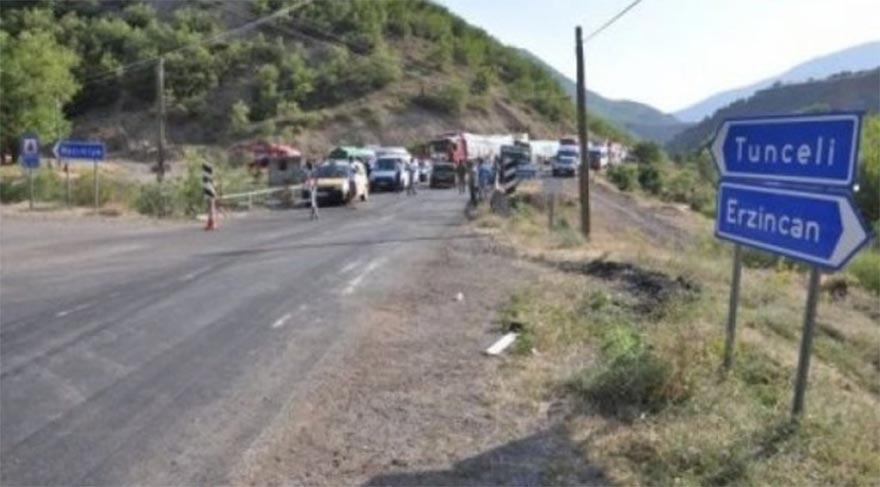 Tunceli-Erzincan karayolu trafiğe kapatıldı