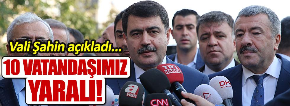 Vali Vasip Şahin'den patlama açıklaması