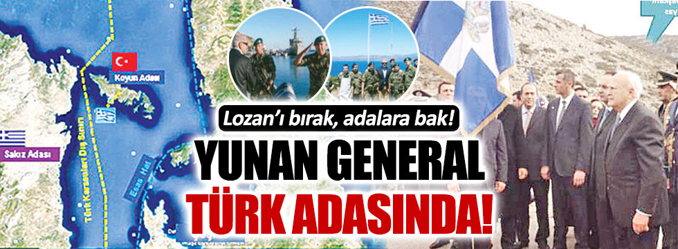 Yunan Savunma Bakanı, ülkesinin tatbikatını Türk adasından izledi