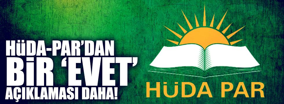 Hüda-Par referandumda 'evet' diyeceğini açıkladı
