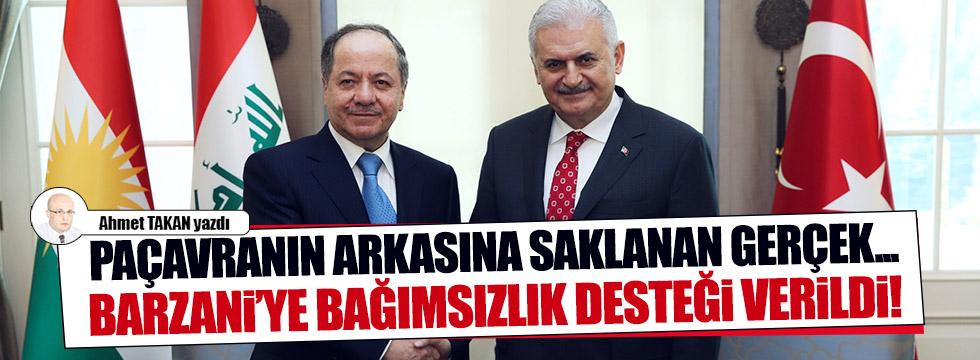 Barzani'ye bağımsızlık desteği verildi!..