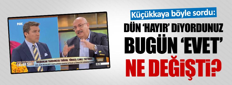 """Türkeş, """"Başkanlığa Hayır"""" dediği görüntülere ne dedi?"""