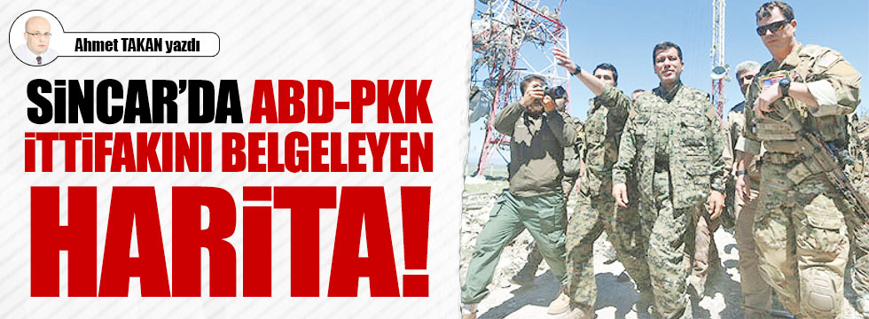 Sincar'da ABD-PKK ittifakını belgeleyen harita
