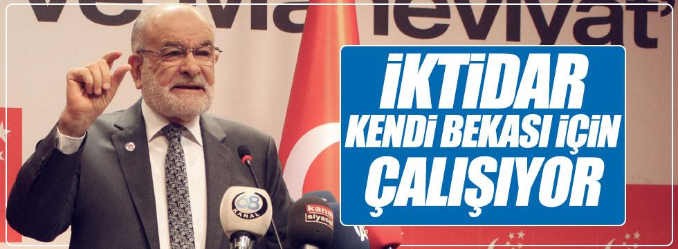 """Karamollaoğlu: """"İktidar  kendi bekası için çalışıyor"""""""