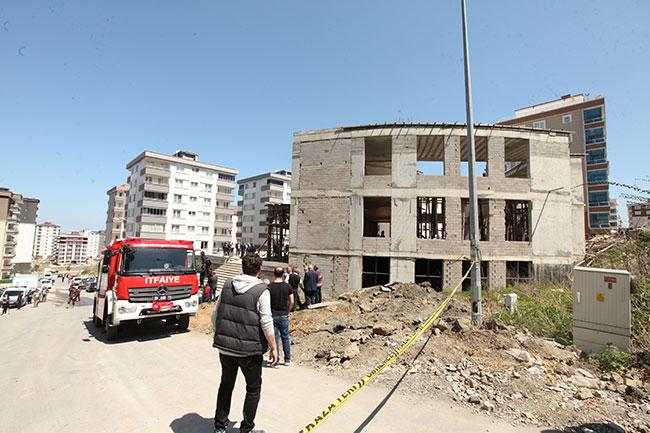 Samsun'da inşaat çöktü, 4 işçi öldü