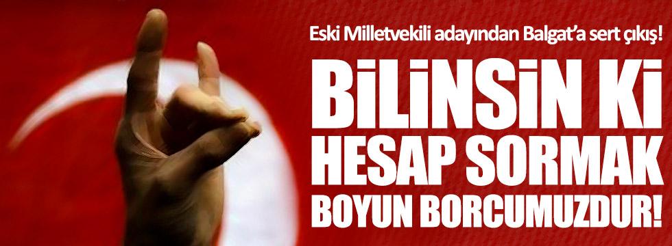 MHP'li Ali Sukas'tan Balgat yönetimine sert sözler