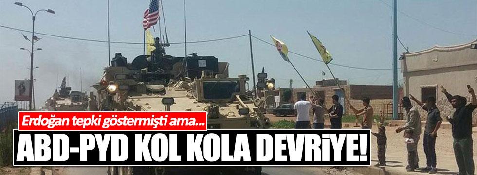 ABD askerleri, PYD'li teröristlerle Rojova'da devriye attı