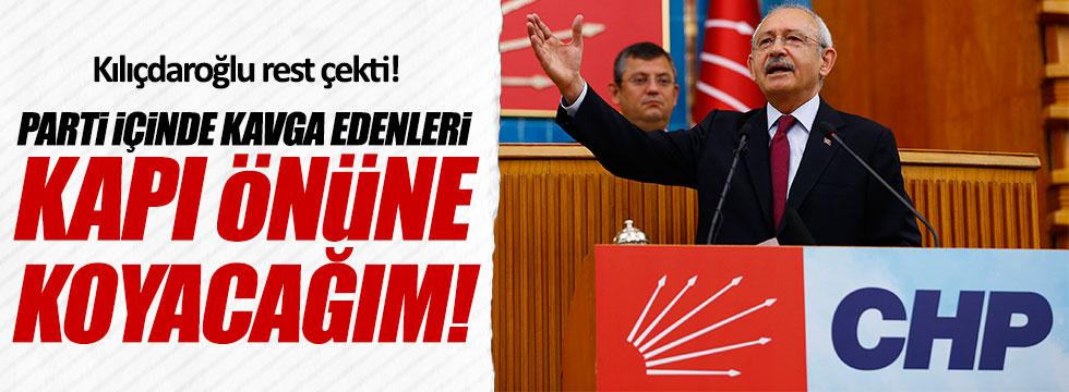 CHP lideri Kılıçdaroğlu: Parti içinde kavgaya izin vermeyeceğim