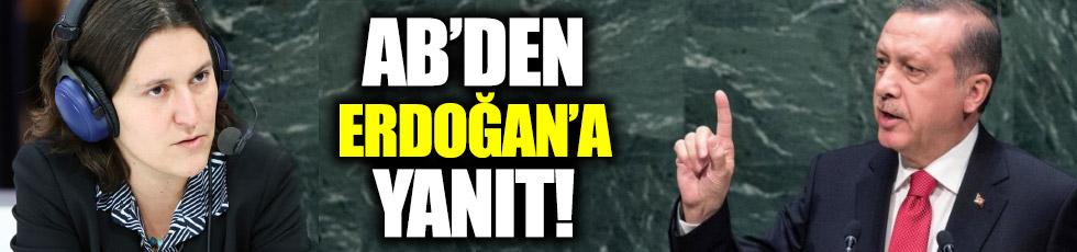 AB'den, Erdoğan'a yanıt
