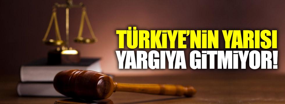 Aldan: Türkiye'nin yarısı yargıya gitmiyor!
