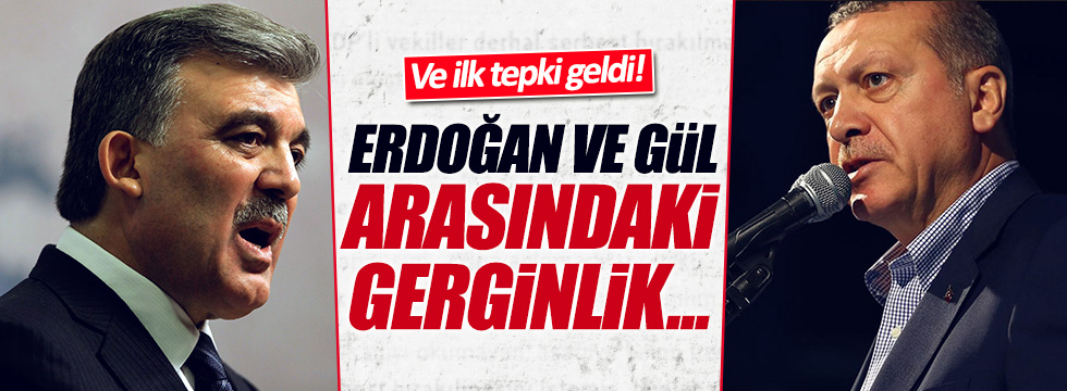 Abdullah Gül'le ilgili ilk tepki geldi