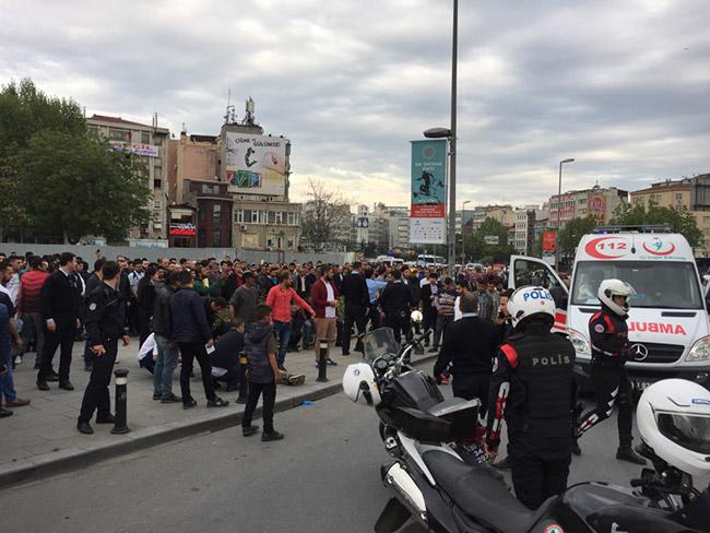 İstanbul Aksaray'da çatışma