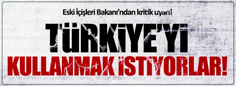 Saadettin Tantan: Türkiye'yi sıkıştırmak istiyorlar