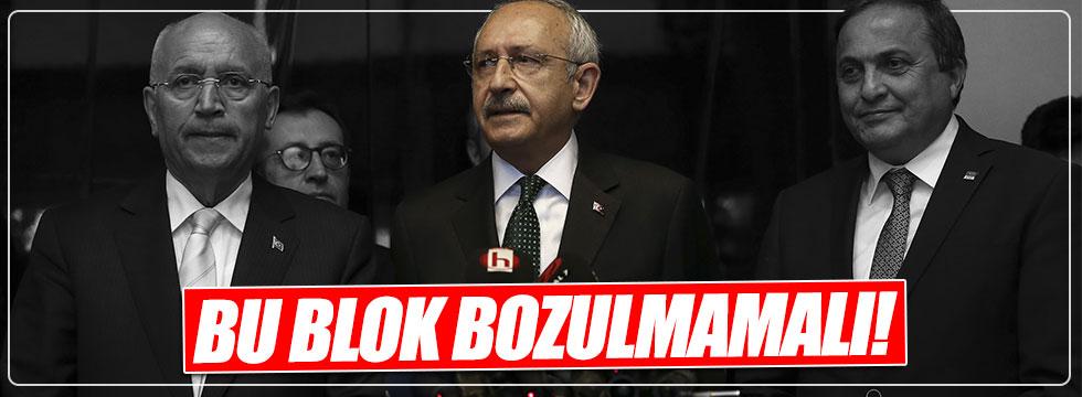 Kılıçdaroğlu: Demokrasiyi savunan bu blok bozulmamalı