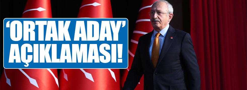 Kemal Kılıçdaroğlu'ndan 'ortak aday' açıklaması!