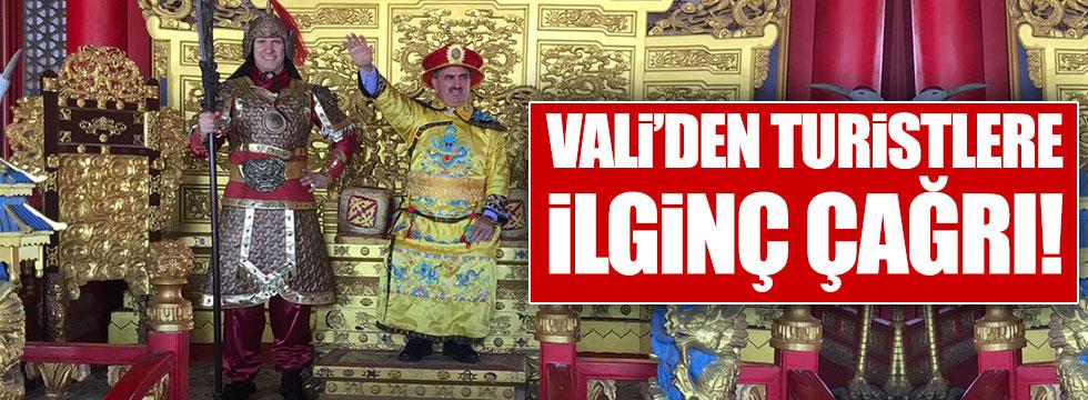 Antalya Valisi'nden Çinlilere ilginç davet